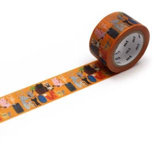Designer mt masking tape SAUNA / Washi Tape ARTIST by MATTI PIKKUJÄMSÄ. Japanisches Washitape aus Reispapier mit Illustration