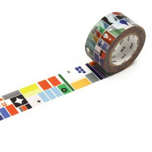 Designer mt masking tape REMIX SHAPES / Washi Tape Artist by SDL - Stockholm Design Lab, Japanisches Washitape aus Reispapier mit Illustration.