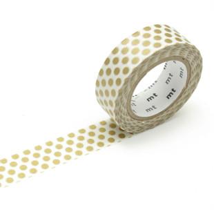 Original mt masking tape mit Punkten gold. Japan Washi Tape aus Reispapier. Gepunktetes Dekoklebeband DECO DOTS.
