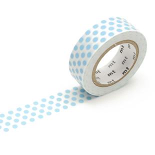 Original mt masking tape mit Punkten - hellblau. Washi Tape ice blau. Gepunktetes Dekoklebeband DECO DOTS. Japanisches Washi Tape aus Reispapier.