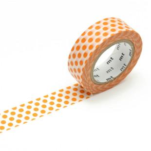 Original mt masking tape mit Punkten - mandarine orange. Washi Tape Dekoklebeband DECO DOTS. Japanisches Washi Tape aus Reispapier.