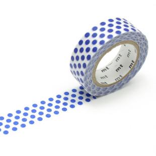 Original mt masking tape mit Punkten dunkelblau. Washi Tape night blau - Gepunktetes Dekoklebeband DECO DOTS. Japanisches Washi Tape aus Reispapier.