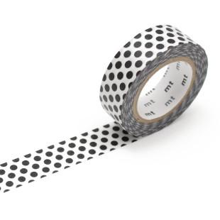 Original mt masking tape mit Punkten - schwarz. Washi Tape Dekoklebeband DECO DOTS. Japanisches Washi Tape aus Reispapier.