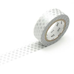Original mt masking tape mit Punkten silver. Washi Tape silber - Gepunktetes Dekoklebeband DECO DOTS. Japanisches Washi Tape aus Reispapier.