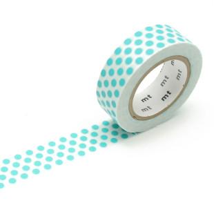 Original mt masking tape mit Punkten - soda blau. Washi Tape türkisblau - Gepunktetes Dekoklebeband DECO DOTS. Japanisches Washi Tape aus Reispapier.