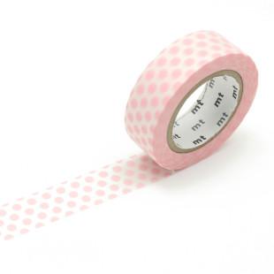Rosa mt masking tape mit Punkten. Washi Tape strawberry milk. Gepunktetes Dekoklebeband DECO DOTS. Japanisches Washi Tape aus Reispapier.