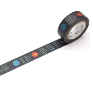 Dekoratives mt masking tape. Washi Tape EX mit Erde, Planeten und Weltraum. Original mt masking tape aus Reispapier