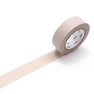 Original mt masking tape in pastelligen braun (dunkles beige). Washi Tape Dekoklebeband PASTEL. Japanisches Washi Tape aus Reispapier.