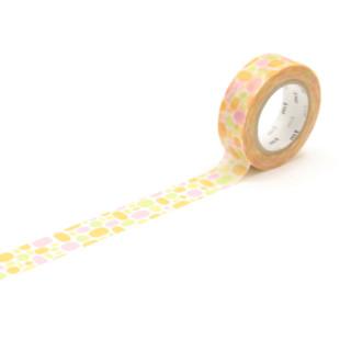 mt masking tape bunt / Washi Tape POOL orange - watercolor dots - japanisches Dekoklebeband aus Reispapier