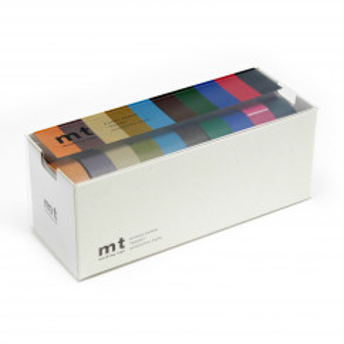 Dekorative mt masking tapes. Washi tape im 10er Pack. Original mt masking tape by Kamoi aus japanischem Reispapier