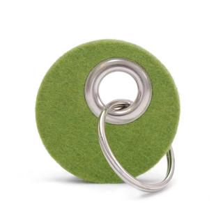 Schlüsselanhänger CANDY rund, Filz grün
