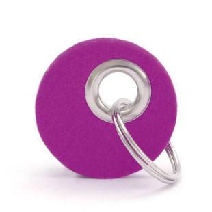 Schlüsselanhänger CANDY rund, Filz pink