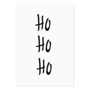 Weihnachtspostkarte DIN A5 - Fröhliche Weihnachten Postkarte - Weihnachtskarte - HOHOHO - noull