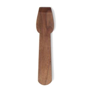 Eislöffel Holz | Nachhaltiger Eisportionierer aus Nussbaumholz von side by side design. Design Eisschaber.