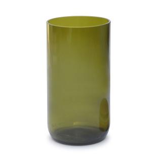 Vorratsglas Ersatzglas - Weinflasche - Glas grün - side by side - Design - 450 ml