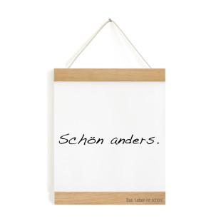 Posterleiste A5 Eichenholz 15 cm, personalisiert