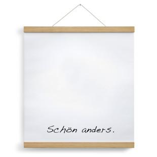 Posterleiste Eichenholz 50 cm von side by side inklusive eingespanntem Kalender.