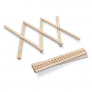 Untersetzer S von side by side Design - Topfuntersetzer aus Eschenholz - ausziebarer Holz Topfuntersetzer von 4 bis max 30 cm Länge