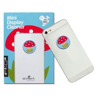 Der süße Display Cleaner Pilz aus 100% Mikrofaser reinigt mühelos alle Fingerabdrücke und sorgt so für klare Sicht auf Smartphone, Tablet und Co