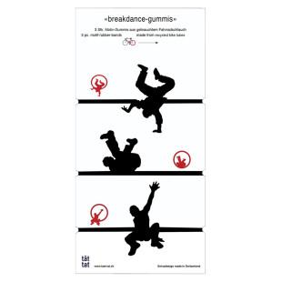 Breakdance-Gummis aus recycelten Fahrradschlauch, 3er Set