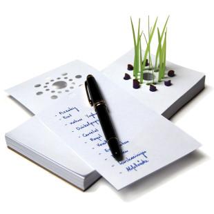Notizblock mit Gras - tät tat - zupf Teich