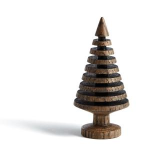 Tannenbaum TREE BRANCHES 10 cm, Eichenholz dunkelbraun - geräuchert - THE OAK MAN - Weihnachtsbaum, Weihnachtsdekoration - Design
