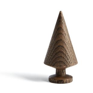 Tannenbaum TREE SOLID 10 cm, Eichenholz dunkel. Skandinavische Design Weihnachtsdekoration von THE OAK MAN aus Dänemark.