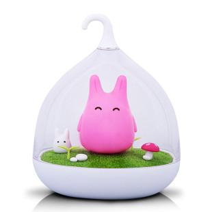 Kinderzimmer Häschen Nachtlicht zum Hängen und Stellen. winkee Kinderlampe Hase rosa.